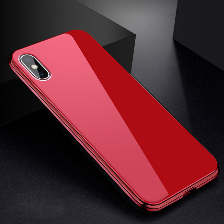 Metal-rimmed Mobile Phone Case Hardened Glass Magnetic Adsorption Protection Smartphone Cover Bumper Luxury Aluminum - 2289575 , 6139340204916 , 62_14703627 , 256000 , Metal-rimmed-Mobile-Phone-Case-Hardened-Glass-Magnetic-Adsorption-Protection-Smartphone-Cover-Bumper-Luxury-Aluminum-62_14703627 , tiki.vn , Metal-rimmed Mobile Phone Case Hardened Glass Magnetic Adsor