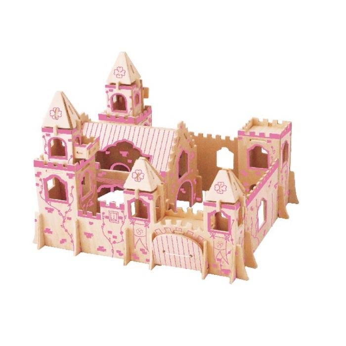 Bộ xếp hình 3D gỗ - lâu đài công chúa
