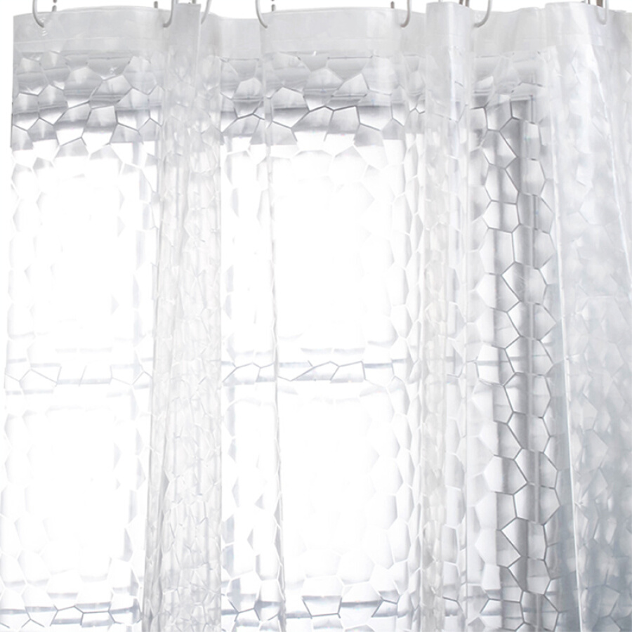 Mercure blue circle PEVA thicker shower curtain 180 * 200CM