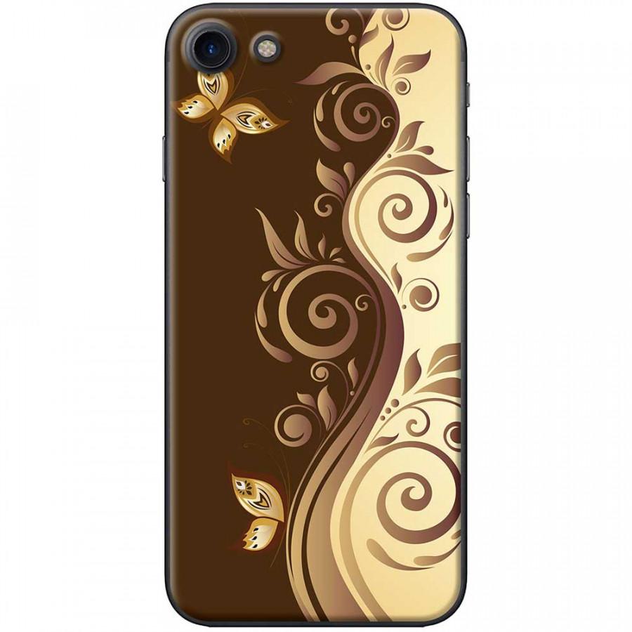 Ốp lưng  dành cho iPhone 7, iPhone 8 mẫu Họa tiết bướm nâu