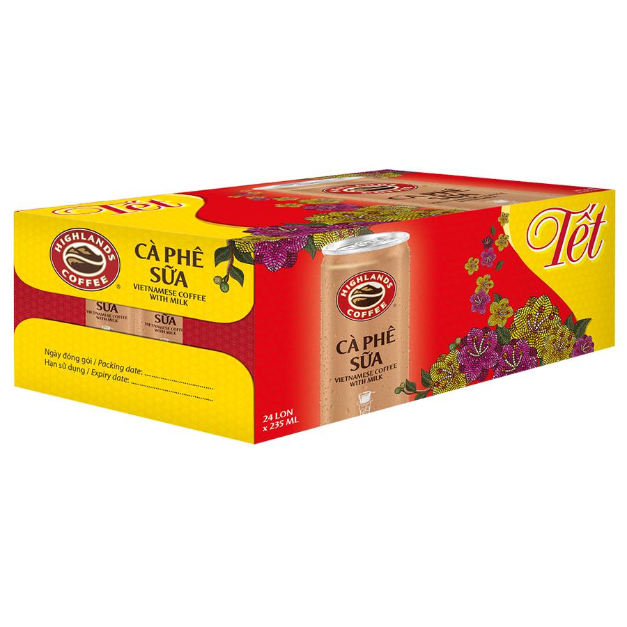 Thùng 24 Lon Cà Phê Sữa Đá Highlands Coffee (235ml/Lon) - 1581006 , 1696423789531 , 62_10413189 , 275000 , Thung-24-Lon-Ca-Phe-Sua-Da-Highlands-Coffee-235ml-Lon-62_10413189 , tiki.vn , Thùng 24 Lon Cà Phê Sữa Đá Highlands Coffee (235ml/Lon)