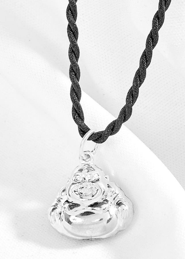 Mặt dây chuyền phật di lặc bạc Ngọc Quý Gemstones
