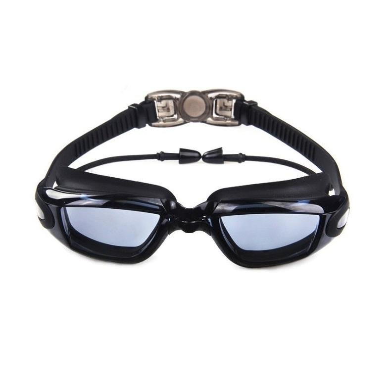 Kính bơi mắt TRONG 6615 bao gồm bịt tai, kính bơi ngăn UV thời trang