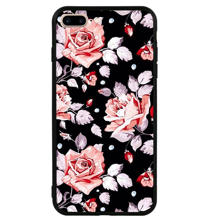 Ốp lưng viền TPU cao cấp cho Iphone 7 Plus - Rose 03