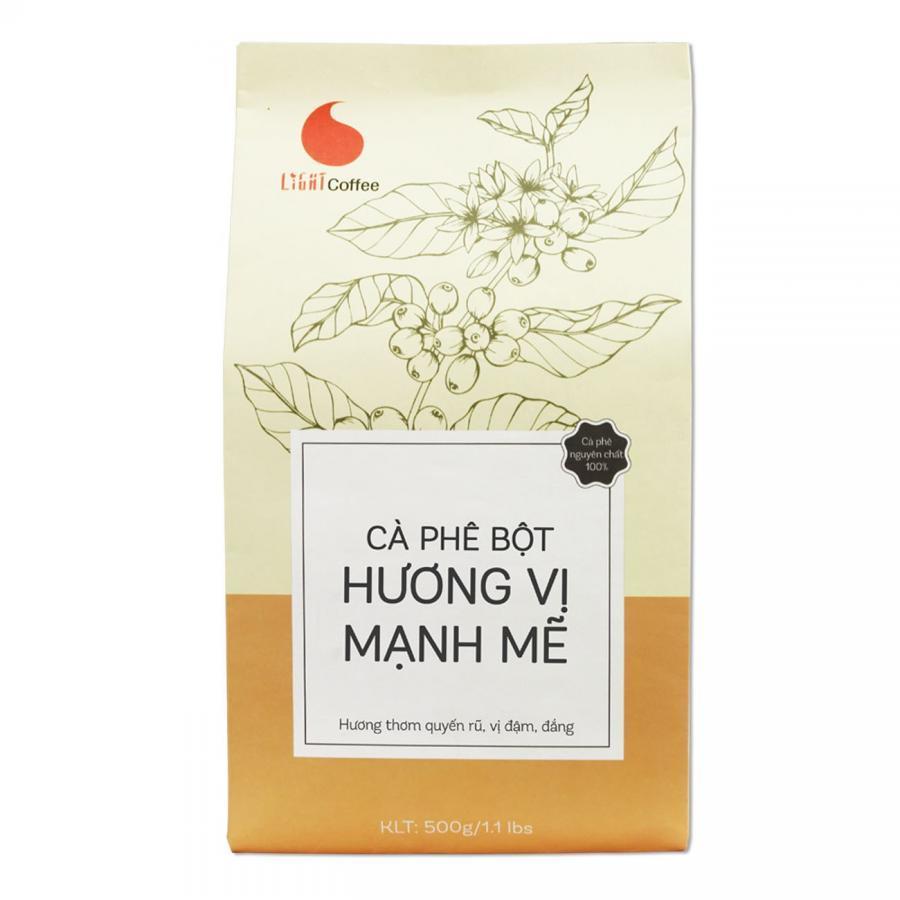 Cà Phê Nguyên Chất 100% Light Coffee Hương Vị Mạnh Mẽ (500g)