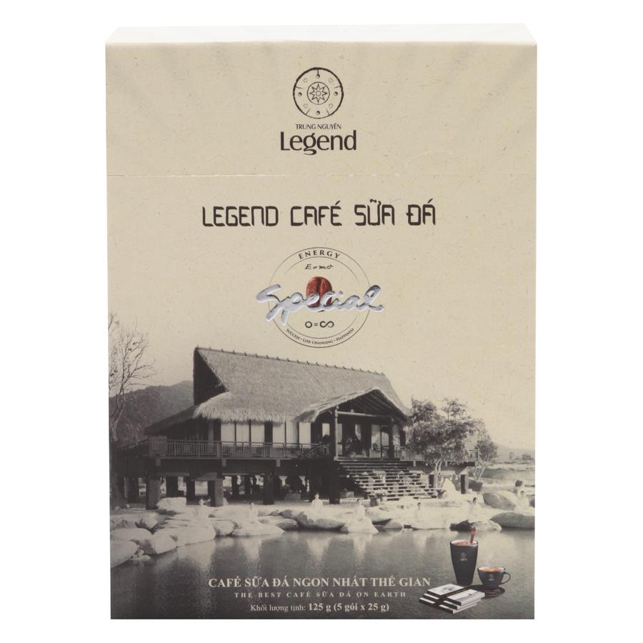 Cà Phê Hòa Tan Sữa Đá Legend Trung Nguyên (5 Gói x 25g)