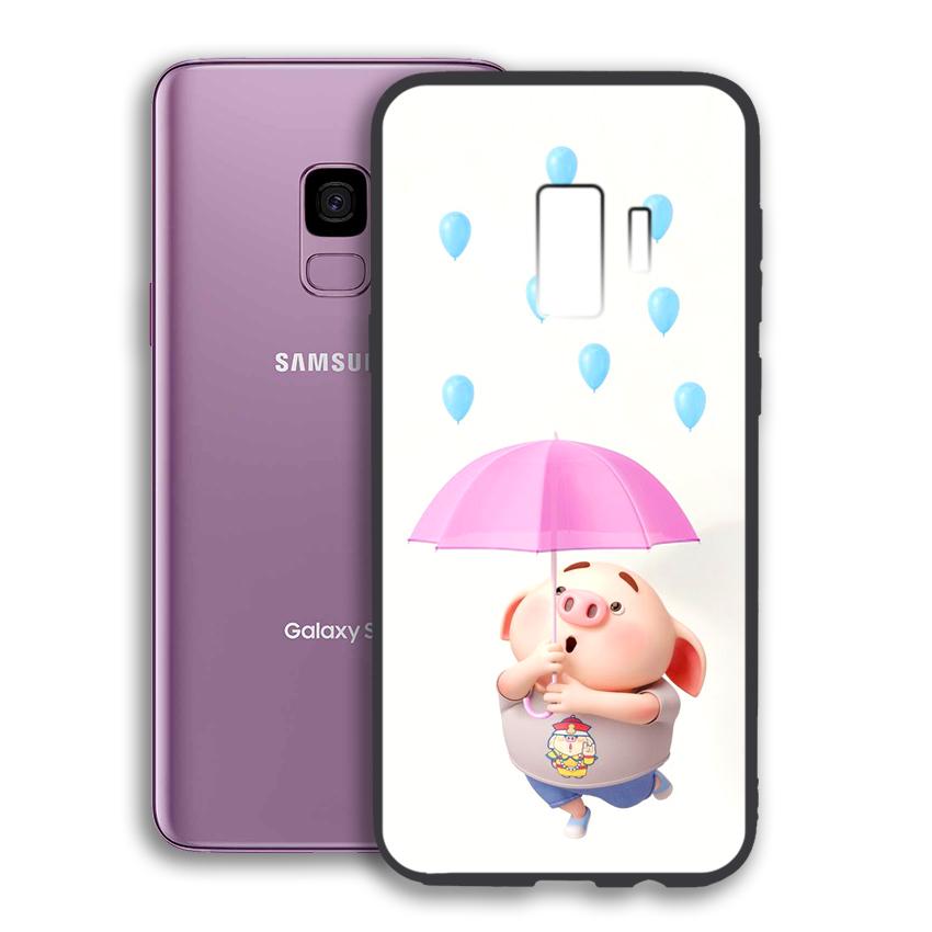 Ốp lưng viền TPU cho điện thoại Samsung Galaxy S9 - 02051 0523 PIG26 - Hàng Chính Hãng