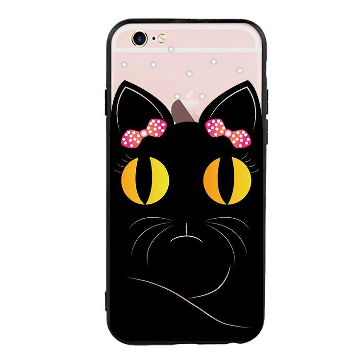 Ốp lưng viền TPU cho Iphone 6 Plus/6s Plus - Mèo Mun 02