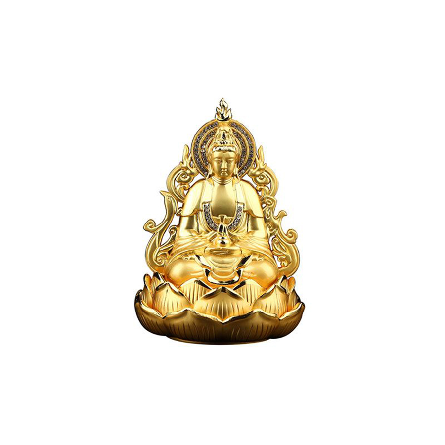 Tượng Phật Bà trang trí trong xe ô tô