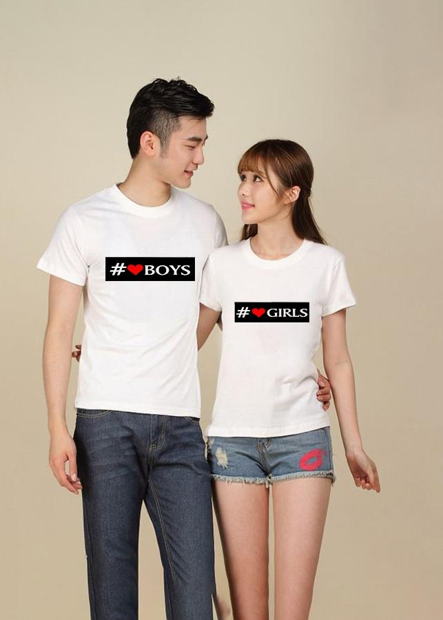 Bộ Áo Thun Đôi #Boy Girls Màu Trắng Nam Nữ - 823779 , 8269481052287 , 62_11048790 , 270000 , Bo-Ao-Thun-Doi-Boy-Girls-Mau-Trang-Nam-Nu-62_11048790 , tiki.vn , Bộ Áo Thun Đôi #Boy Girls Màu Trắng Nam Nữ