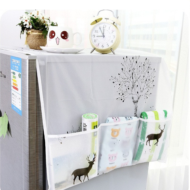 Khăn che tủ lạnh chống thấm giao họa tiết ngẫu nhiên