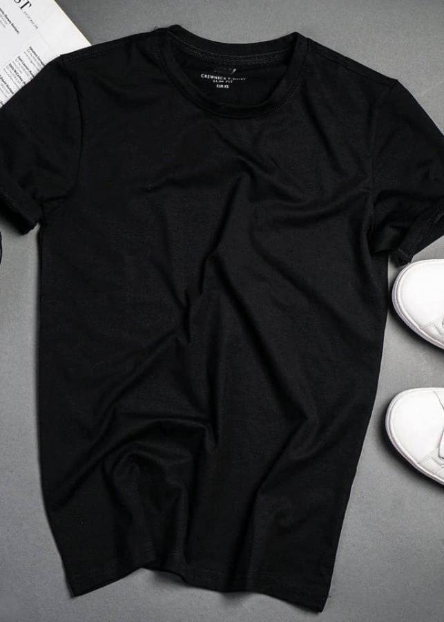 Áo Thun Thời Trang Basic  Simple ngắn tay cổ tròn UNISU - Màu Đen