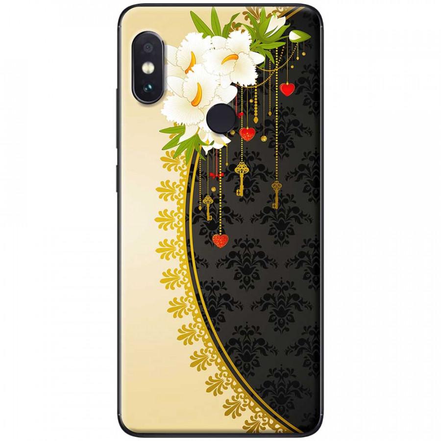 Ốp lưng dành cho Xiaomi Redmi Note 7 mẫu Hoa trắng vàng đen