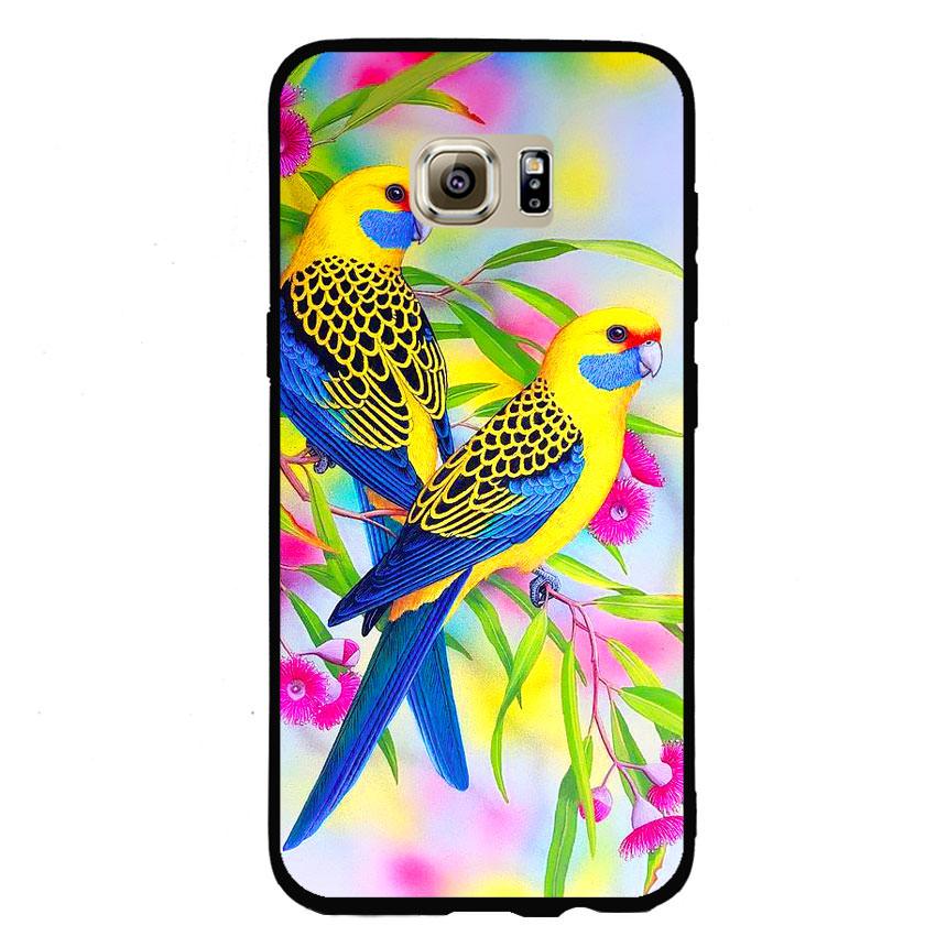 Ốp lưng nhựa cứng viền dẻo TPU cho điện thoại Samsung Galaxy S7 Edge - Couple Bird