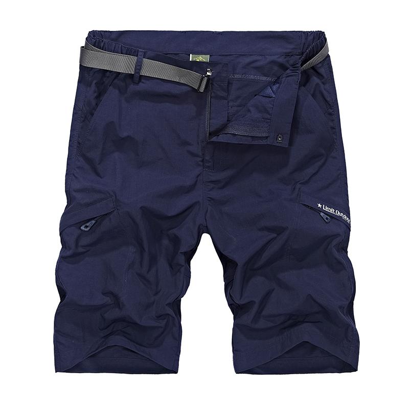 Mens cargo Waterproof Combat shorts men Summer Sports quick dry Elastic short  Plus size M-4XL , FZA207