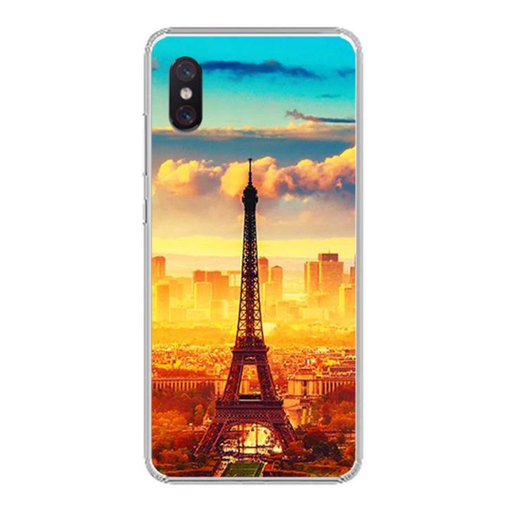 Ốp lưng cho Xiaomi Mi 8 Pro - 0299 PARIS01 - Silicone dẻo - Hàng Chính Hãng