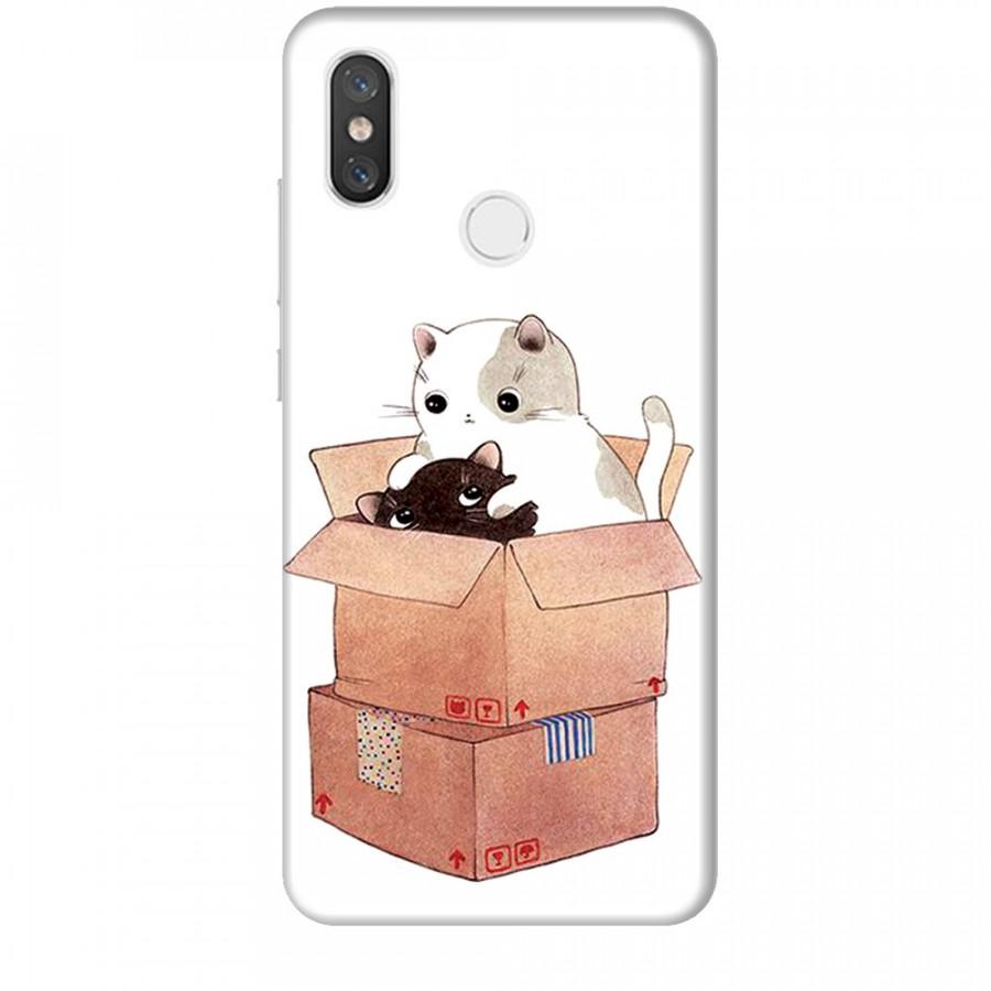 Ốp lưng dành cho điện thoại XIAOMI MI 8 Mèo Con Dễ Thương