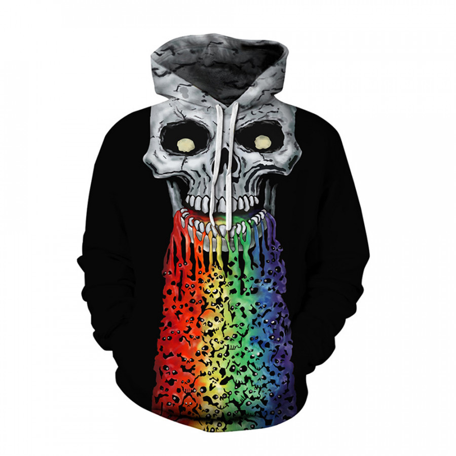 Áo Khoác Hoodie Nam Ghost 3D
