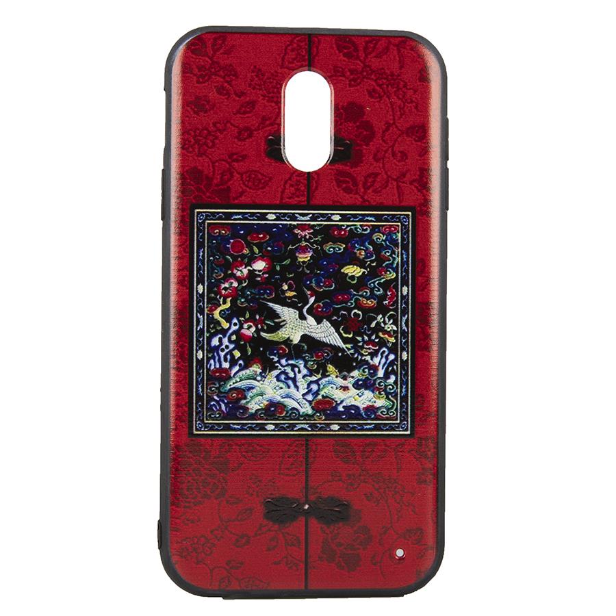 Ốp lưng Samsung J7 Plus Diên Hi - Đỏ vuông