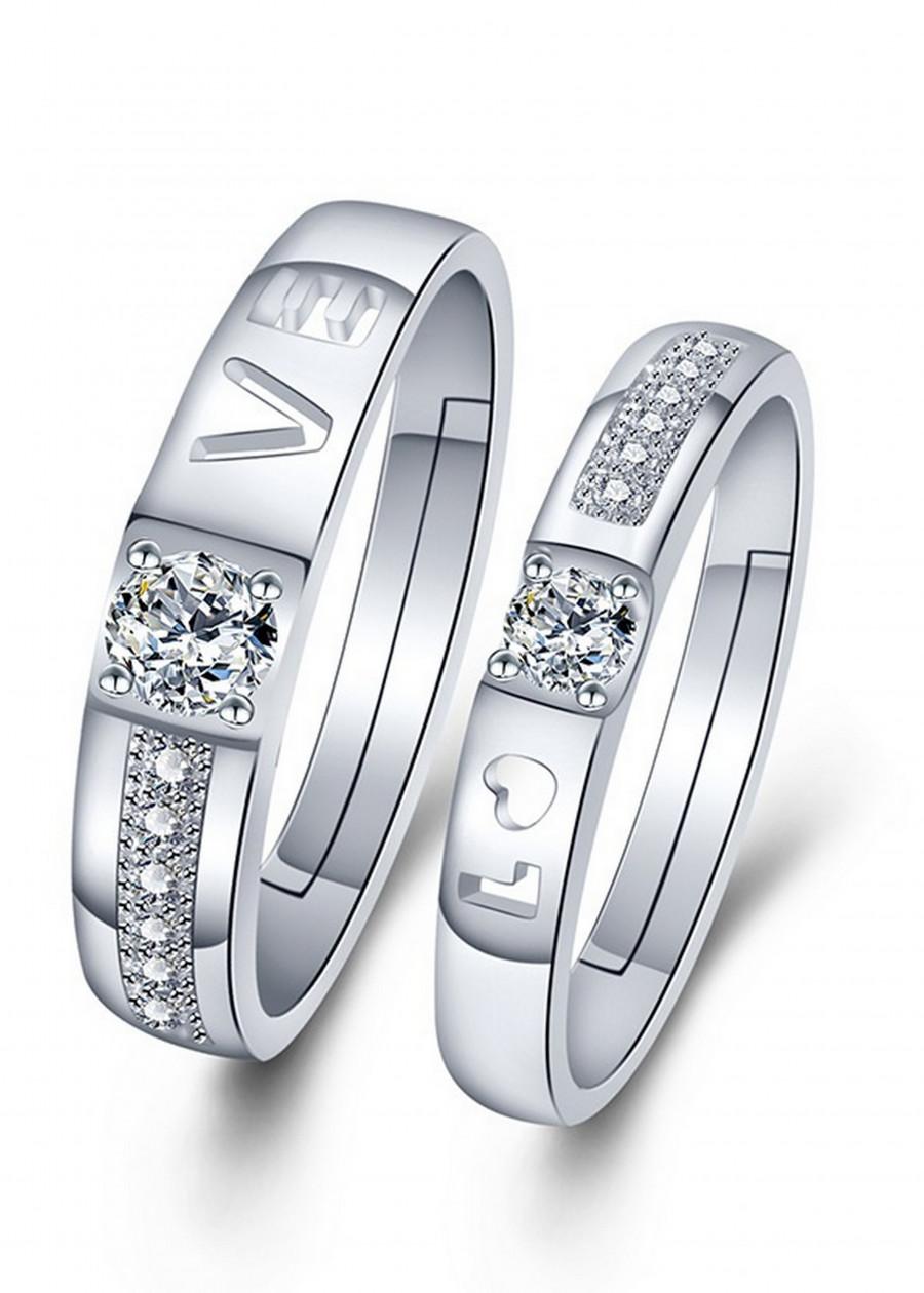 Nhẫn đôi tình nhân Bạc 925 tặng kèm hộp nhung - RC05