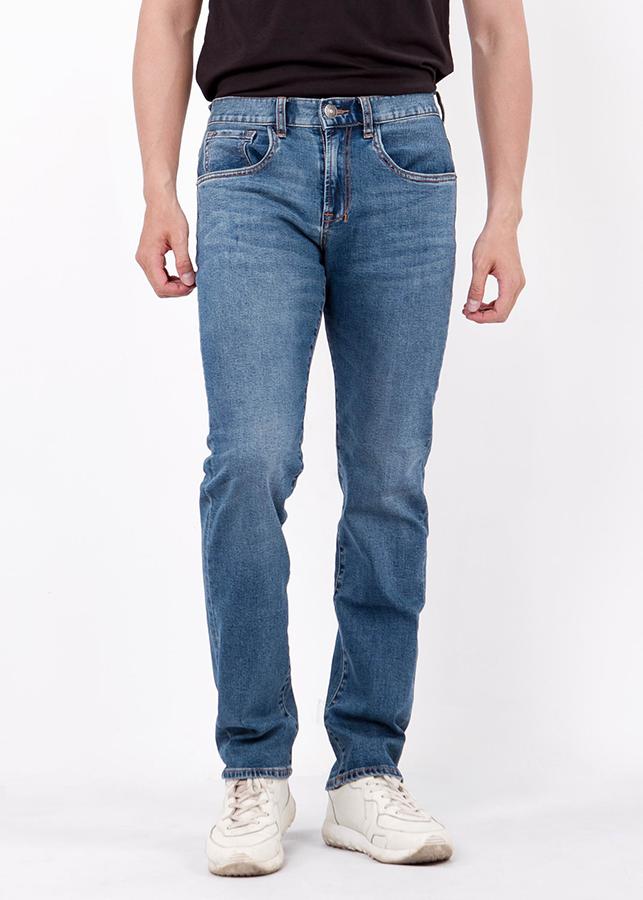 Quần Jeans Nam Mài Bạc Ninomaxx - Xanh Dương