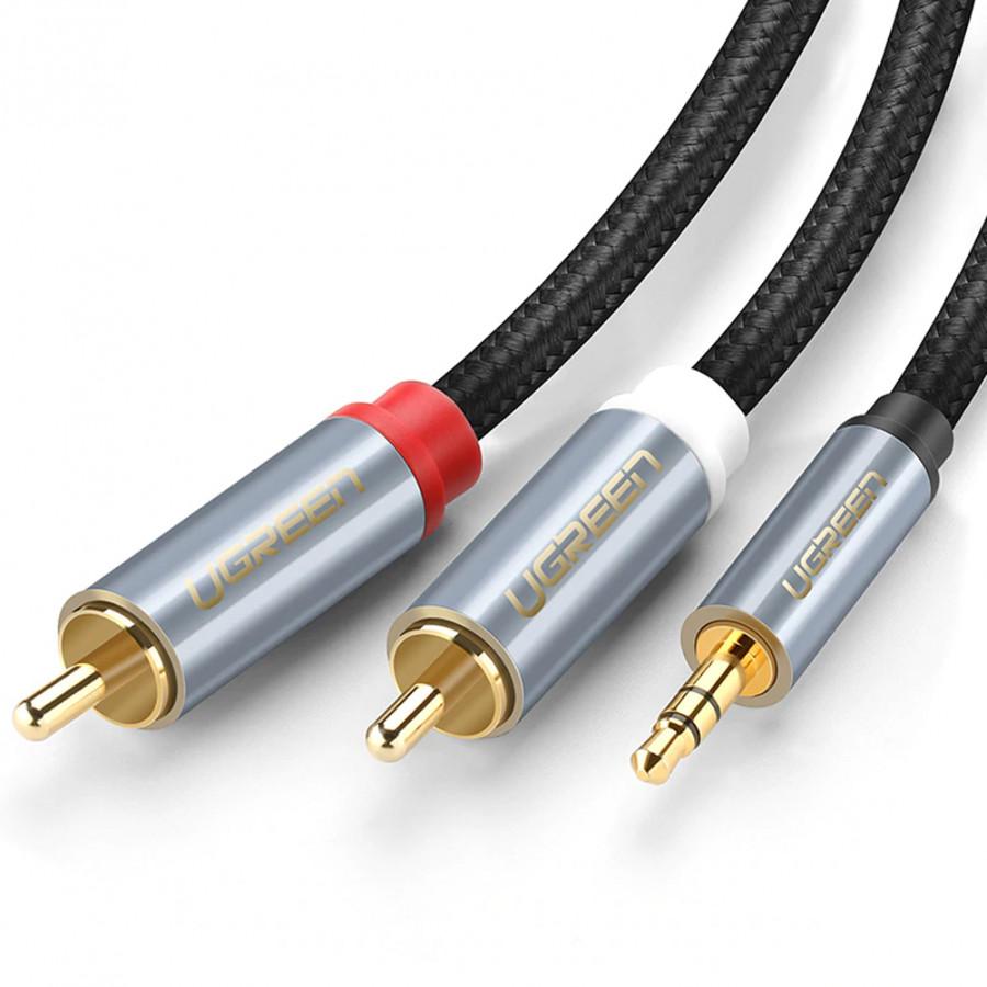 Cáp Audio 3.5mm to AV hoa sen (RCA) dài 0.5M Ugreen 40840 vỏ nhôm