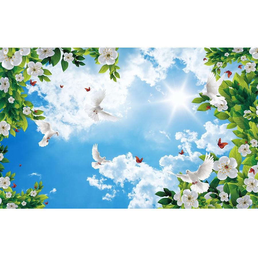 Tranh trần nhà 3D bầu trời hoa lá TN52 - 5079884 , 7797179658110 , 62_16055784 , 420000 , Tranh-tran-nha-3D-bau-troi-hoa-la-TN52-62_16055784 , tiki.vn , Tranh trần nhà 3D bầu trời hoa lá TN52