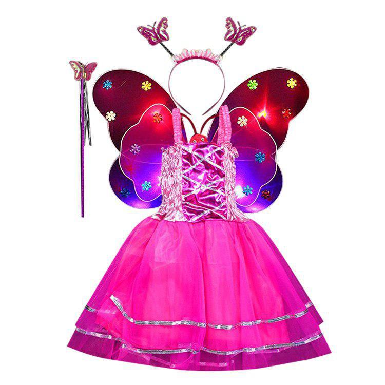 Bộ Váy Cánh Tiên Nữ D253 - Hồng Đậm