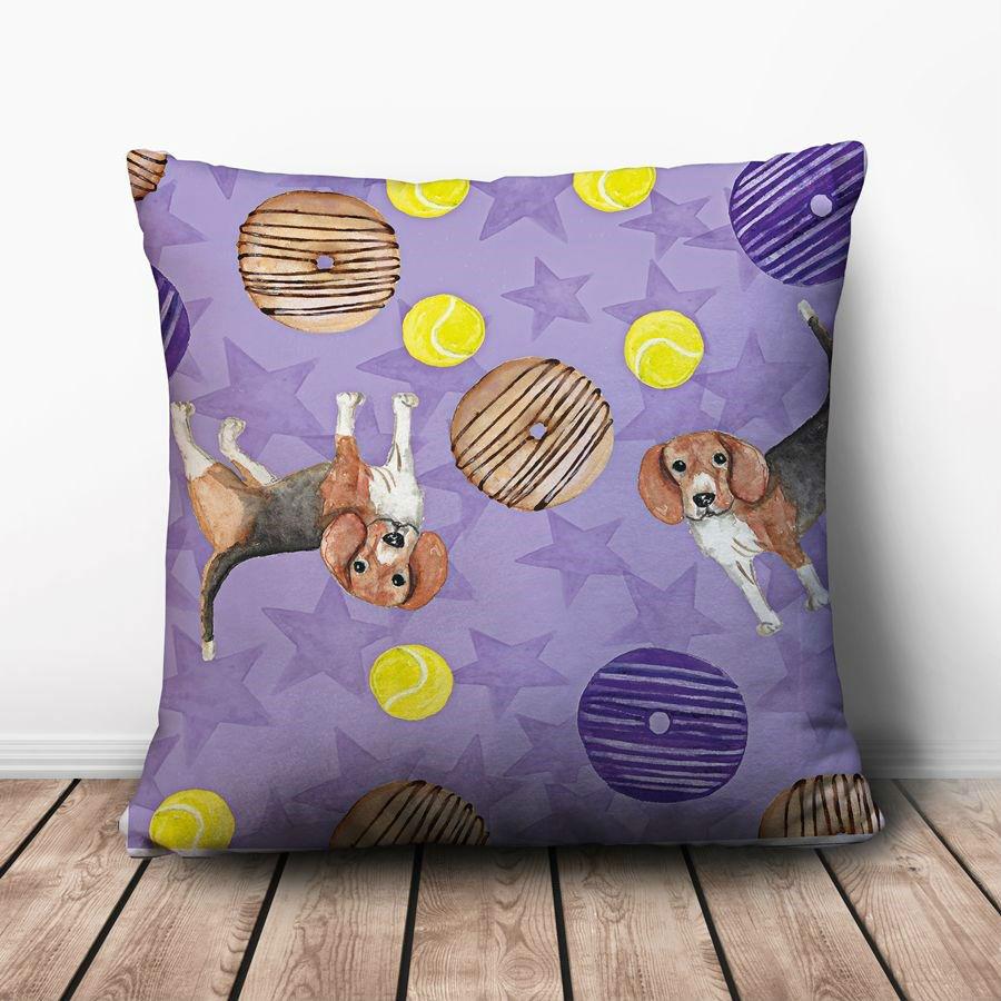 Gối Ôm Vuông Chó Và Bánh Donut GVHT062 (36 x 36 cm)