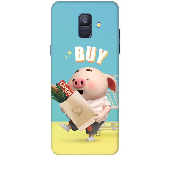 Ốp lưng dành cho điện thoại  SAMSUNG GALAXY A6 2018 Heo Con Mua Sắm