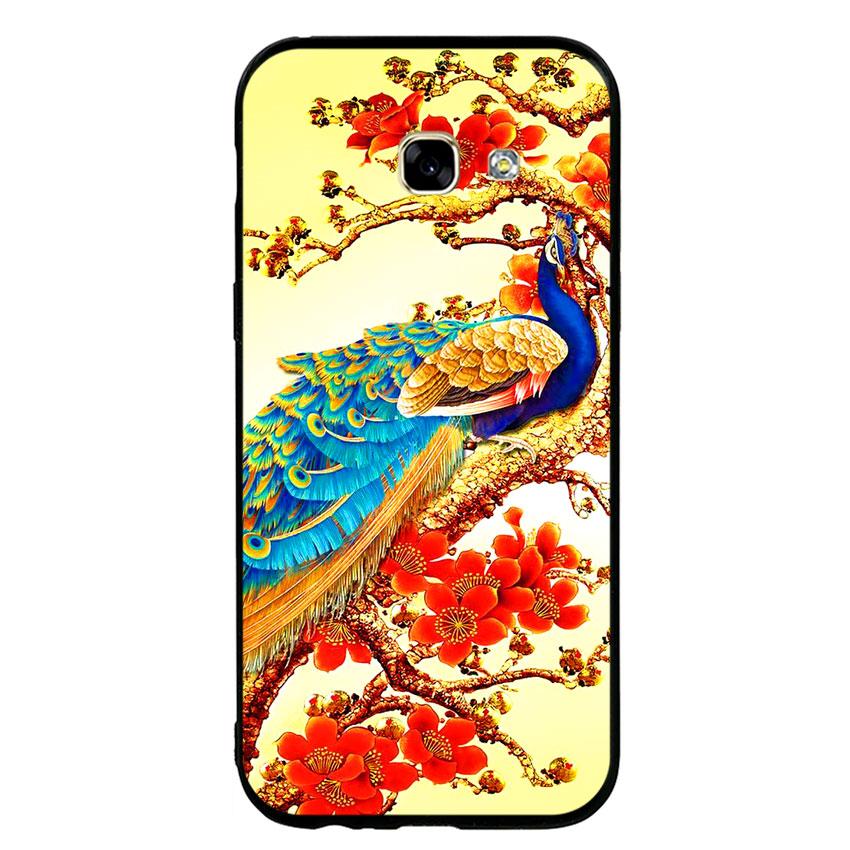 Ốp lưng nhựa cứng viền dẻo TPU cho điện thoại Samsung Galaxy A5 2017 - Khổng Tước 03