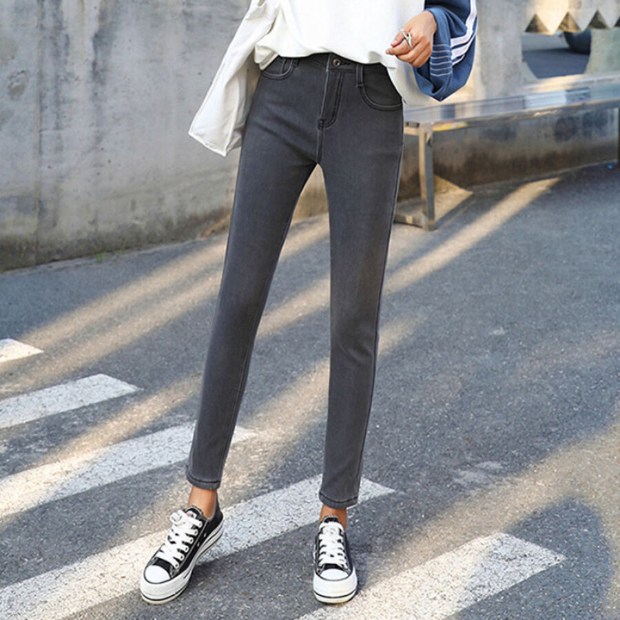 Quần Jeans Nữ Lưng Cao Langyue LWKN189220