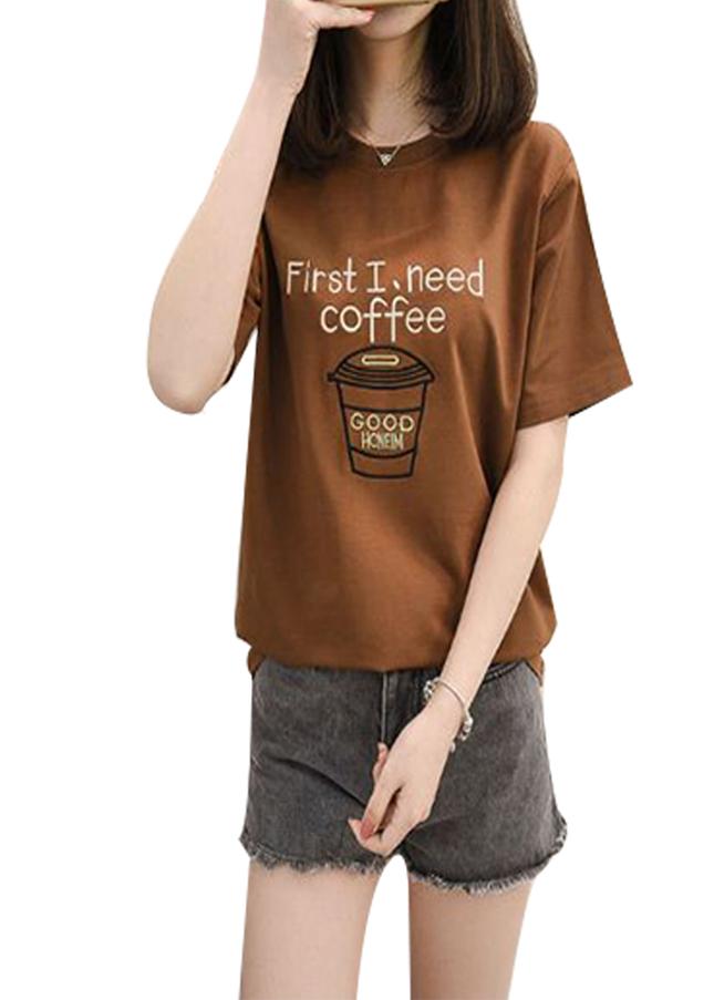 Áo thun nữ coffee phong cách TD d407 màu đồng - 951441 , 6034048840964 , 62_12649851 , 158000 , Ao-thun-nu-coffee-phong-cach-TD-d407-mau-dong-62_12649851 , tiki.vn , Áo thun nữ coffee phong cách TD d407 màu đồng