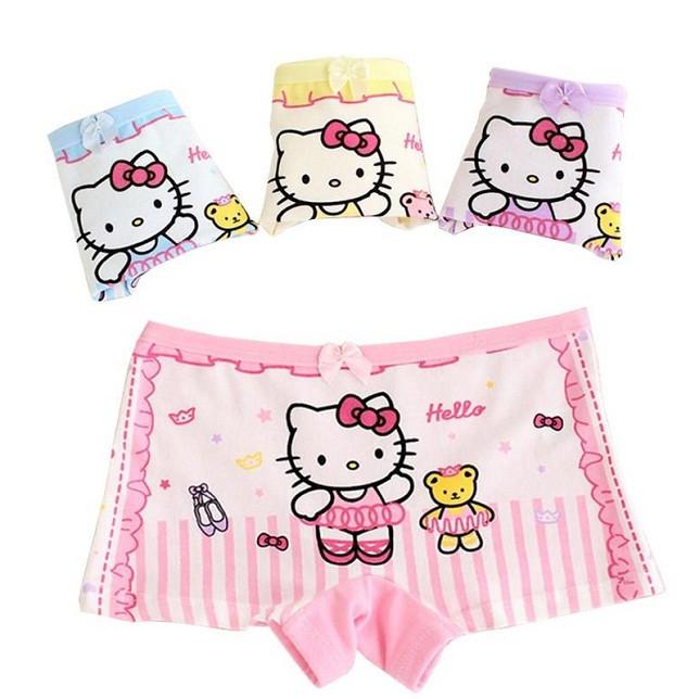 Set 5 quần lót dạng đùi cotton cho bé gái hình ngẫu nhiên