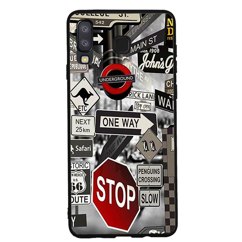 Ốp lưng viền TPU cho điện thoại Samsung Galaxy A8 Star -Street 01