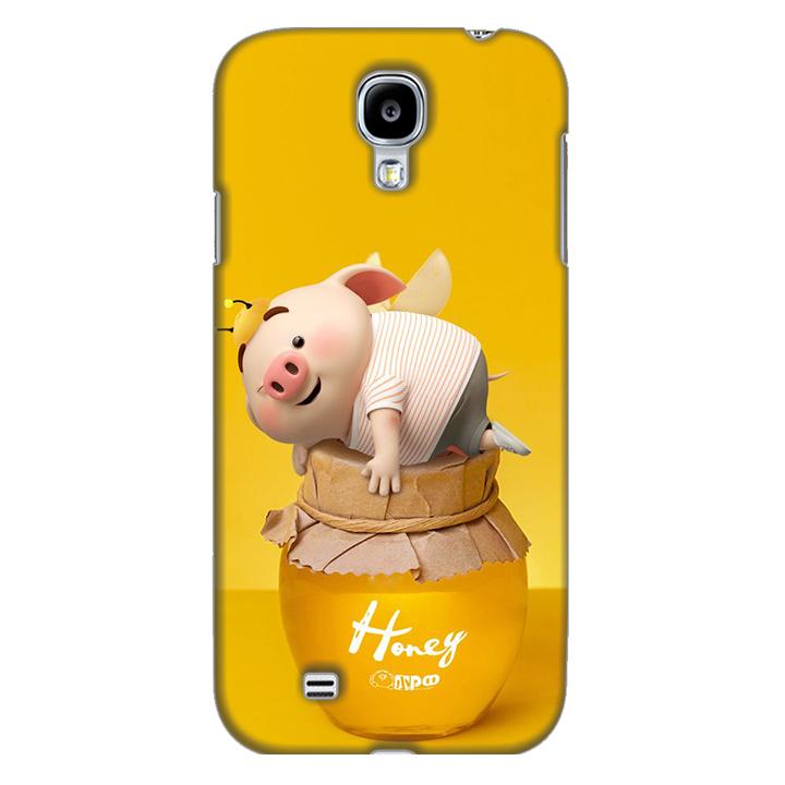 Ốp lưng nhựa cứng nhám dành cho Samsung Galaxy S4 in hình Heo Cute