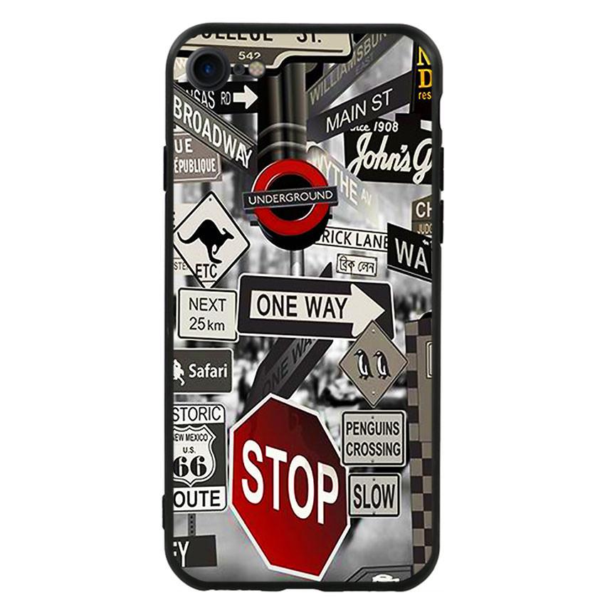 Ốp lưng viền TPU cho điện thoại Iphone 7 / Iphone 8 -Street 01