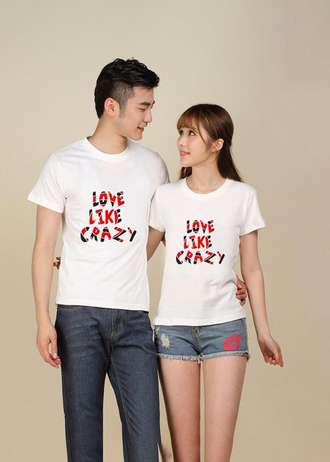 Bộ Áo Thun Đôi Love Like Crazy Màu Trắng Nam Nữ - 7336527 , 9878304775266 , 62_11097236 , 270000 , Bo-Ao-Thun-Doi-Love-Like-Crazy-Mau-Trang-Nam-Nu-62_11097236 , tiki.vn , Bộ Áo Thun Đôi Love Like Crazy Màu Trắng Nam Nữ
