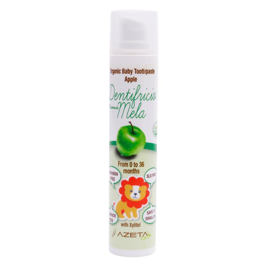 Gel Đánh Răng Vị Táo Organic Toothpaste Apple Azeta Bio GDR002 (50ml)