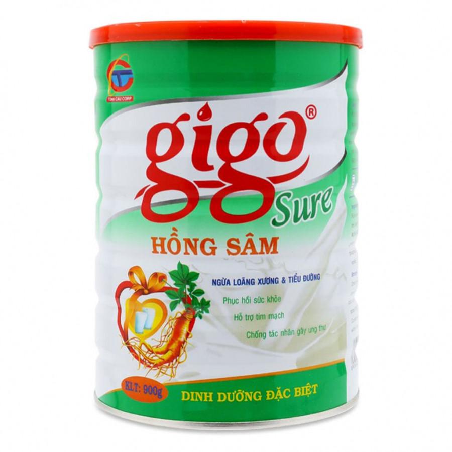 Sữa Bột Gigo Sure Hồng Sâm (900g)