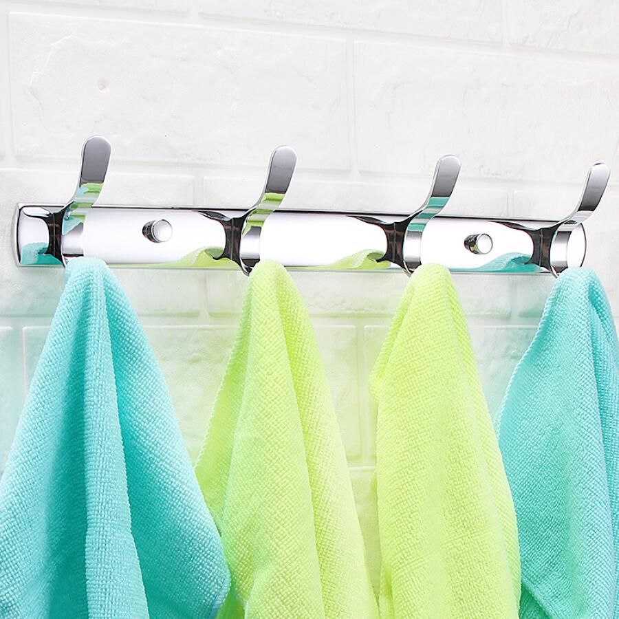 Bethus stainless steel hook door hook hook bathroom hook bathroom wall hook row hook clothes hook wall coat hook flat hook
