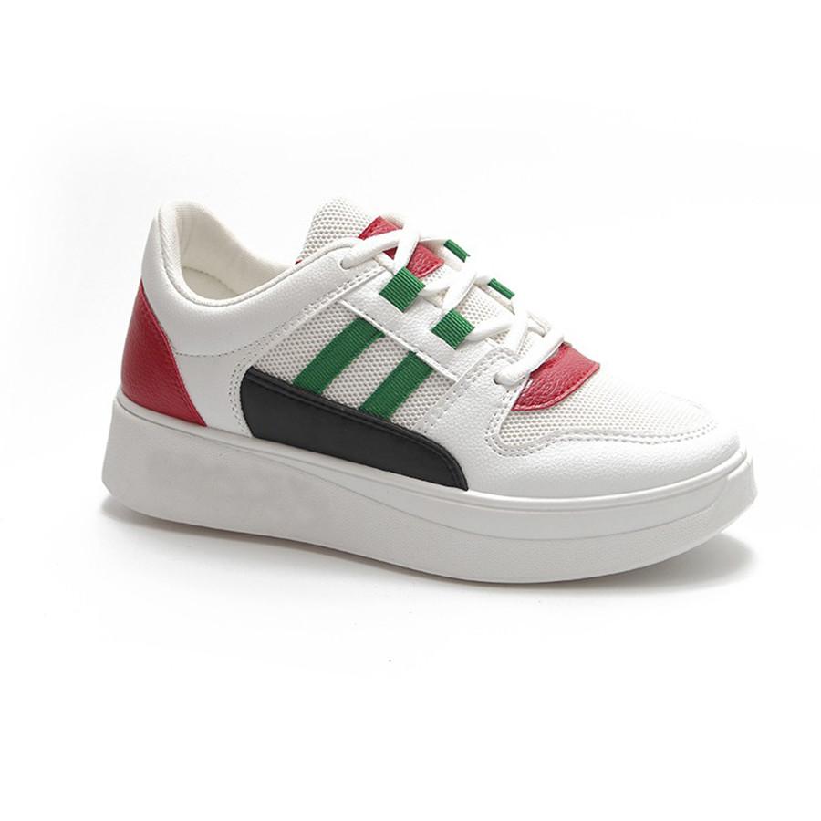 Giày Sneaker Nữ Độn Đế Đẹp Hai Sọc