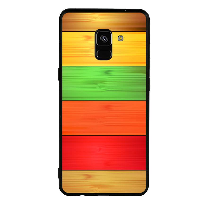 Ốp lưng nhựa cứng viền dẻo TPU cho điện thoại Samsung Galaxy A8 Plus 2018 - Sắc Màu