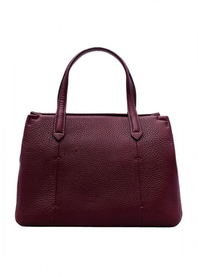 Túi xách tay nữ da bò thật màu đỏ đô ET644