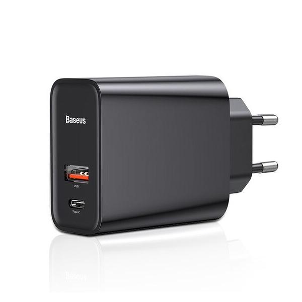 Adapter Cốc củ sạc Baseus Quick Charge 2 cổng sạc USB và Type-C cho điện thoại và Macbook máy tính bảng (Sạc nhanh QC 3.0... - 1957783 , 7864248107548 , 62_14363234 , 450000 , Adapter-Coc-cu-sac-Baseus-Quick-Charge-2-cong-sac-USB-va-Type-C-cho-dien-thoai-va-Macbook-may-tinh-bang-Sac-nhanh-QC-3.0...-62_14363234 , tiki.vn , Adapter Cốc củ sạc Baseus Quick Charge 2 cổng sạc USB