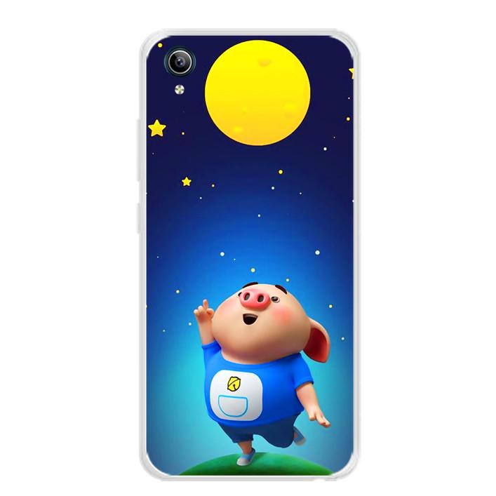 Ốp lưng dẻo cho điện thoại Vivo Y91C - 0051 PIGCUTE06 - Hàng Chính Hãng