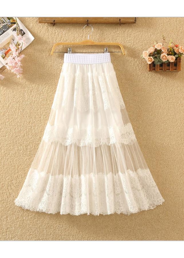 Chân váy ren Tulle - tutu 3 tầng thời trang mẫu mới VAY19 Free size