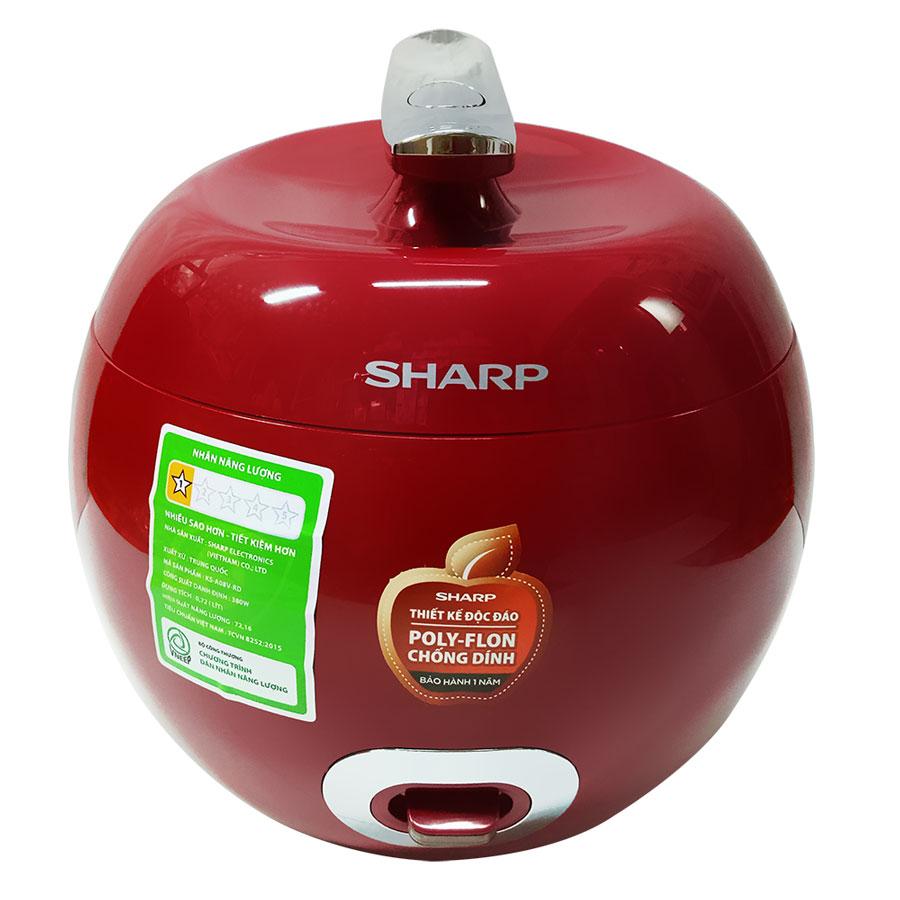 Nồi Cơm Điện Sharp KS-A08V-R (0.72 lít) - Đỏ