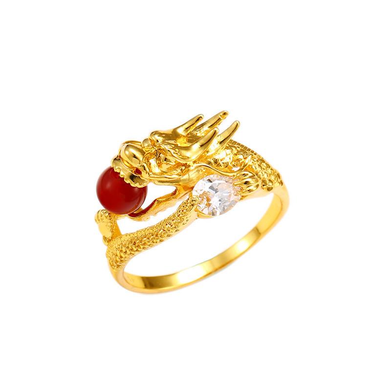Nhẫn Zirconium Mạ Vàng Cho Nam