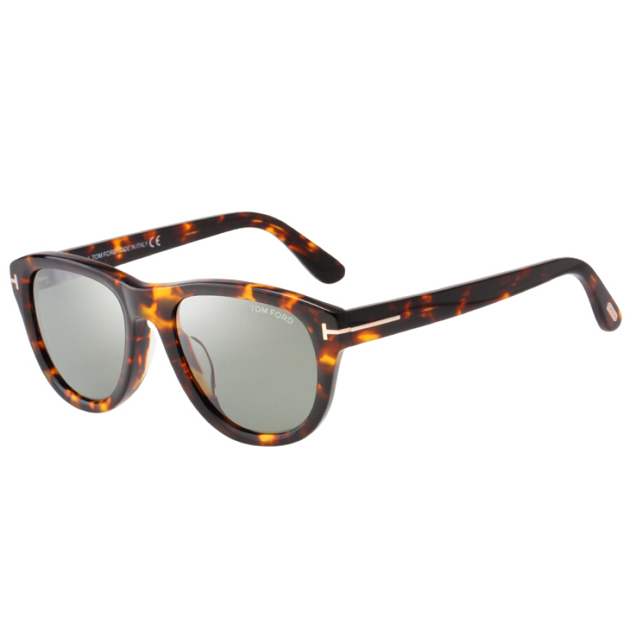 TOM FORD Tom Ford Neutral Twilight Frame Dark Green Lens Glasses Sunglasses TF520F 52N 53MM
